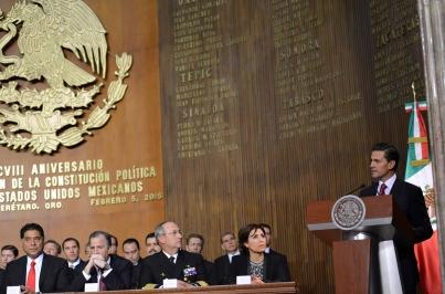 La Constitución actual es la ruta para el desarrollo de la Nación: Peña Nieto