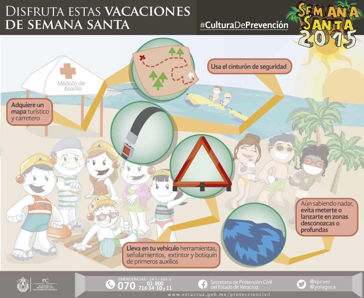 Emite PC recomendaciones para disfrutar de unas vacaciones seguras