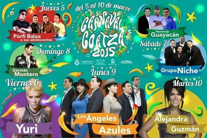Carnaval de Coatzacoalcos 2015 dejará importante derrama económica