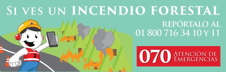 Semana calurosa y con condiciones favorables para incendios forestales
