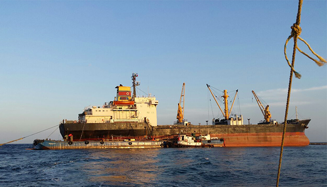 Tripulantes del buque norcoreano iniciaron trámites para prolongar su estancia en México