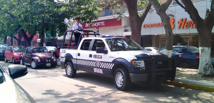 Refuerza Policía Estatal recorridos de vigilancia en Coatzacoalcos y Poza Rica