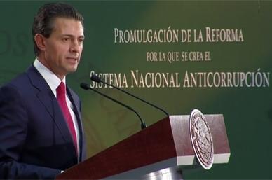 Ley anticorrupción, paso histórico que pone fin a impunidad: Peña Nieto