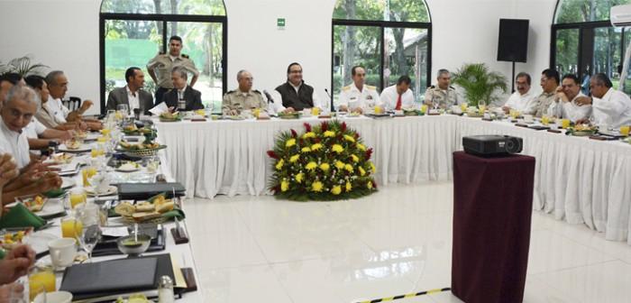 Encabeza gobernador Javier Duarte reunión ordinaria del Grupo Coordinación Veracruz