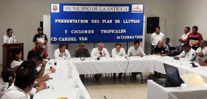 Presenta PC Plan de Lluvias y Ciclones Tropicales en La Antigua