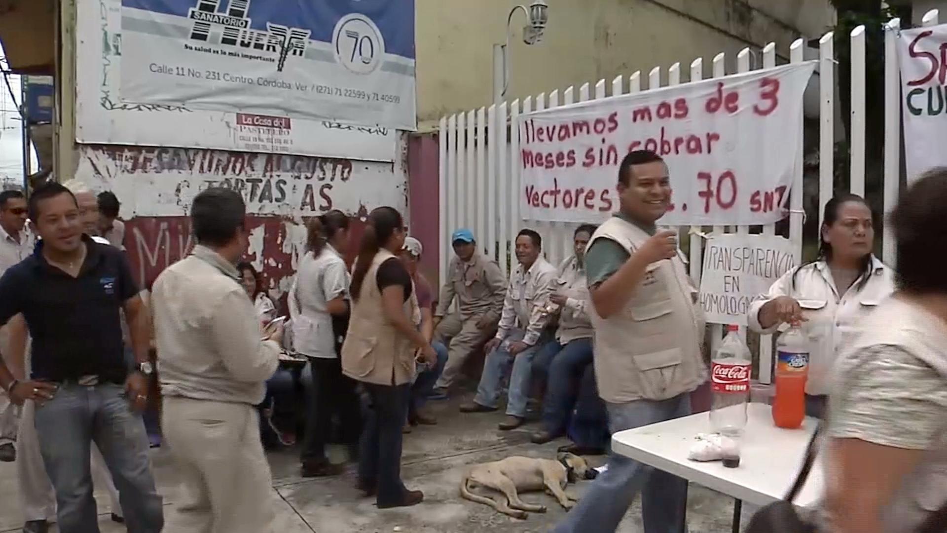 Trabajadores de la Jurisdicción Sanitaria VI piden pagos pendientes