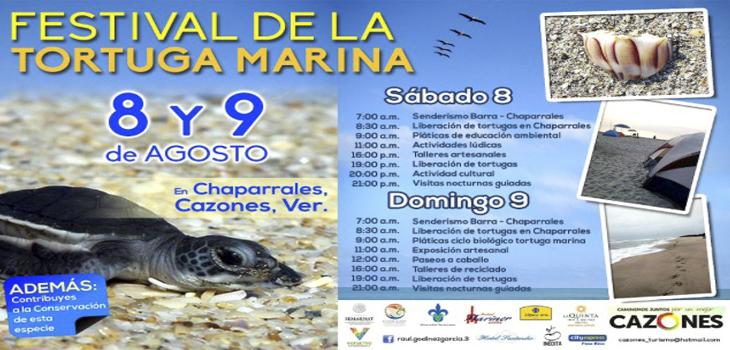 Celebra Cazones Tercer Festival de la Tortuga Marina