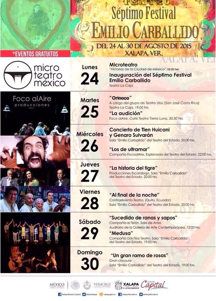 Inicia en Xalapa el Festival Emilio Carballido