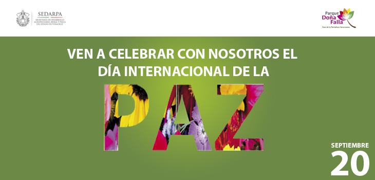Celebrarán Día Internacional de la Paz en Parque Doña Falla
