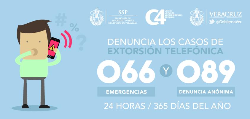Exhorta C4 a denunciar casos de extorsión telefónica a los números de emergencias