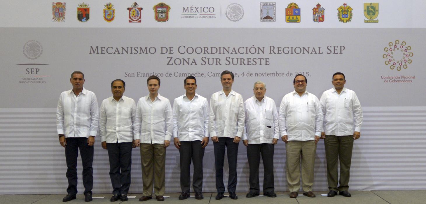 Asiste Javier Duarte a la sesión de Coordinación de Educación Zona Sur-Sureste