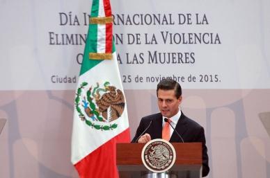Peña Nieto reconoce más conciencia para erradicar violencia contra las mujeres