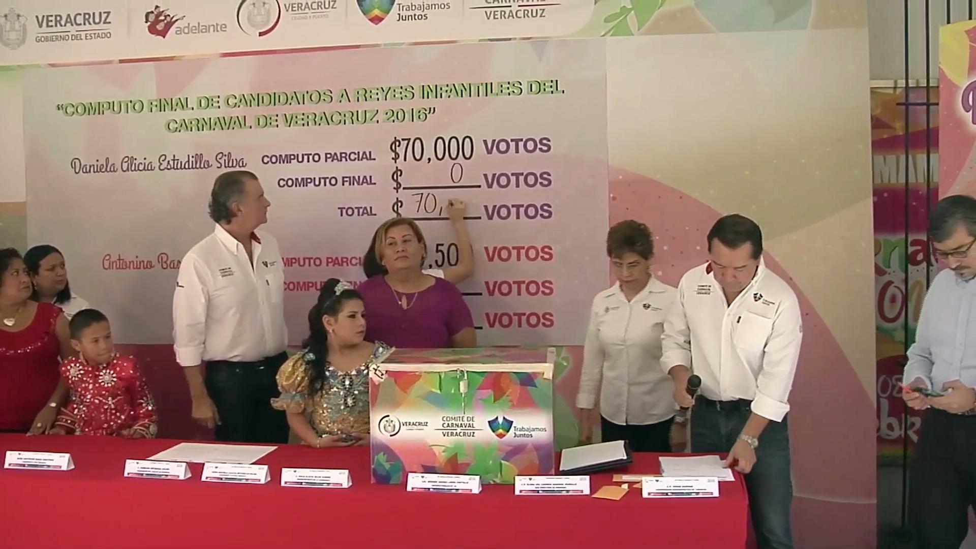 Eligen a los reyes infantiles del Carnaval de Veracruz