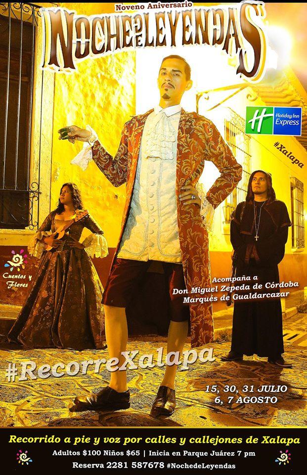 """Regresan las  """"Noches de leyendas"""" a Xalapa"""