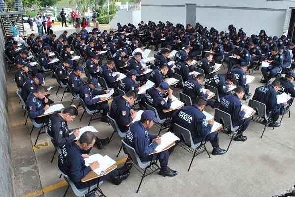 Evalúa Federación a 113 elementos de Veracruz sobre competencias policiales