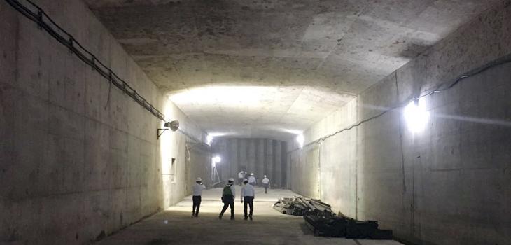 Constatan representantes de bancos últimos trabajos del Túnel Sumergido