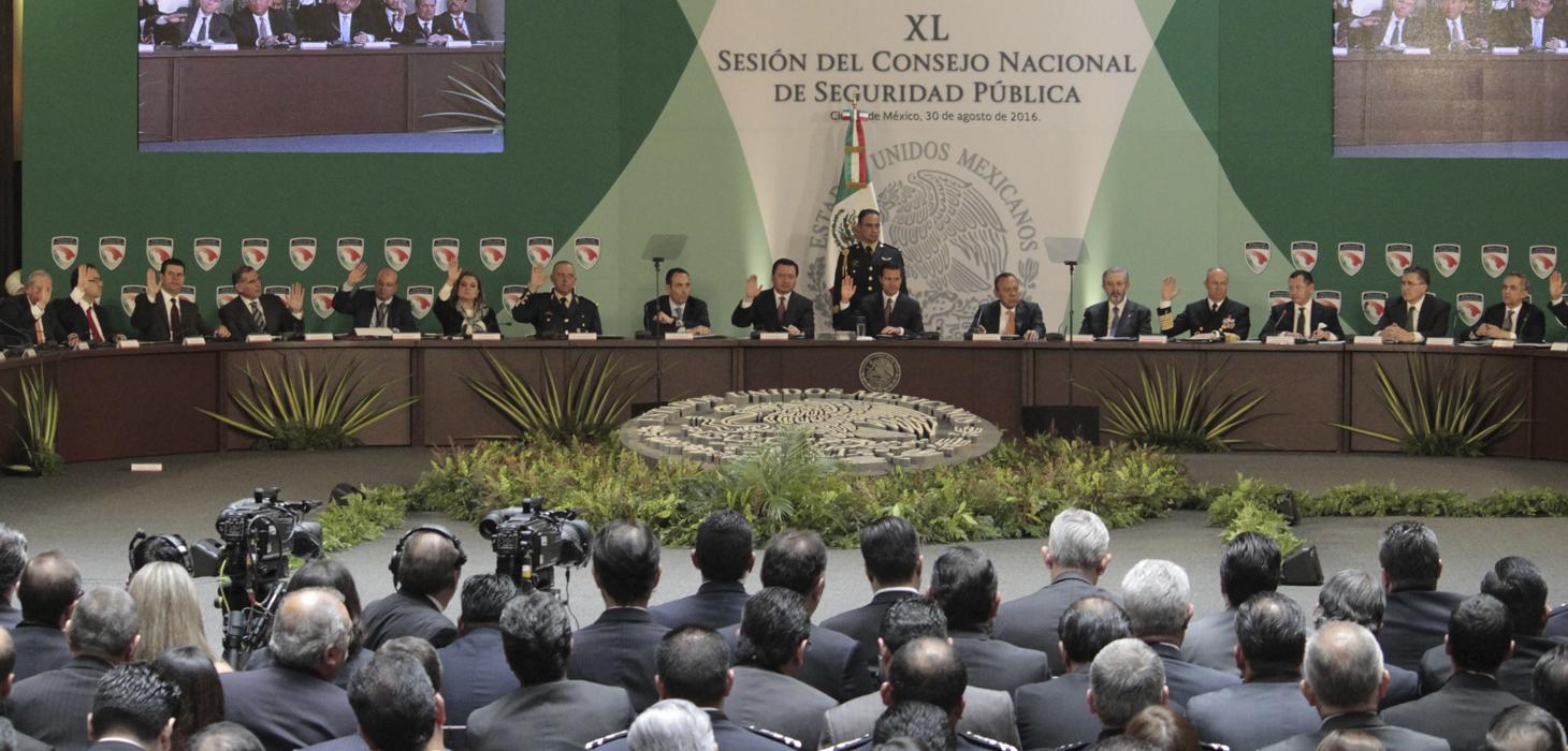 Participa Javier Duarte en la XL Sesión del Consejo Nacional de Seguridad Pública