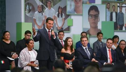 Educación, herramienta primordial de jóvenes para triunfar: Peña Nieto