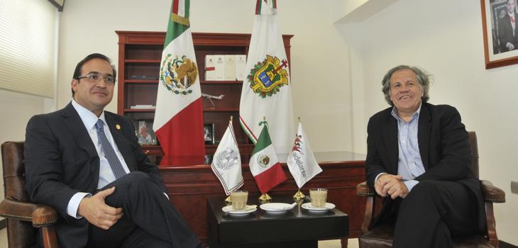 Recibe Javier Duarte al Secretario General de la OEA