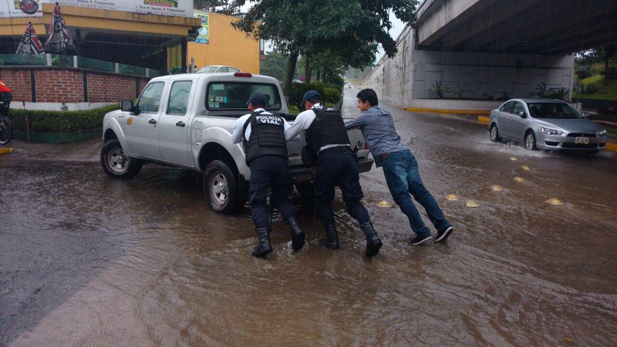 Implementa Policía Estatal Plan Tajín por lluvia en Xalapa