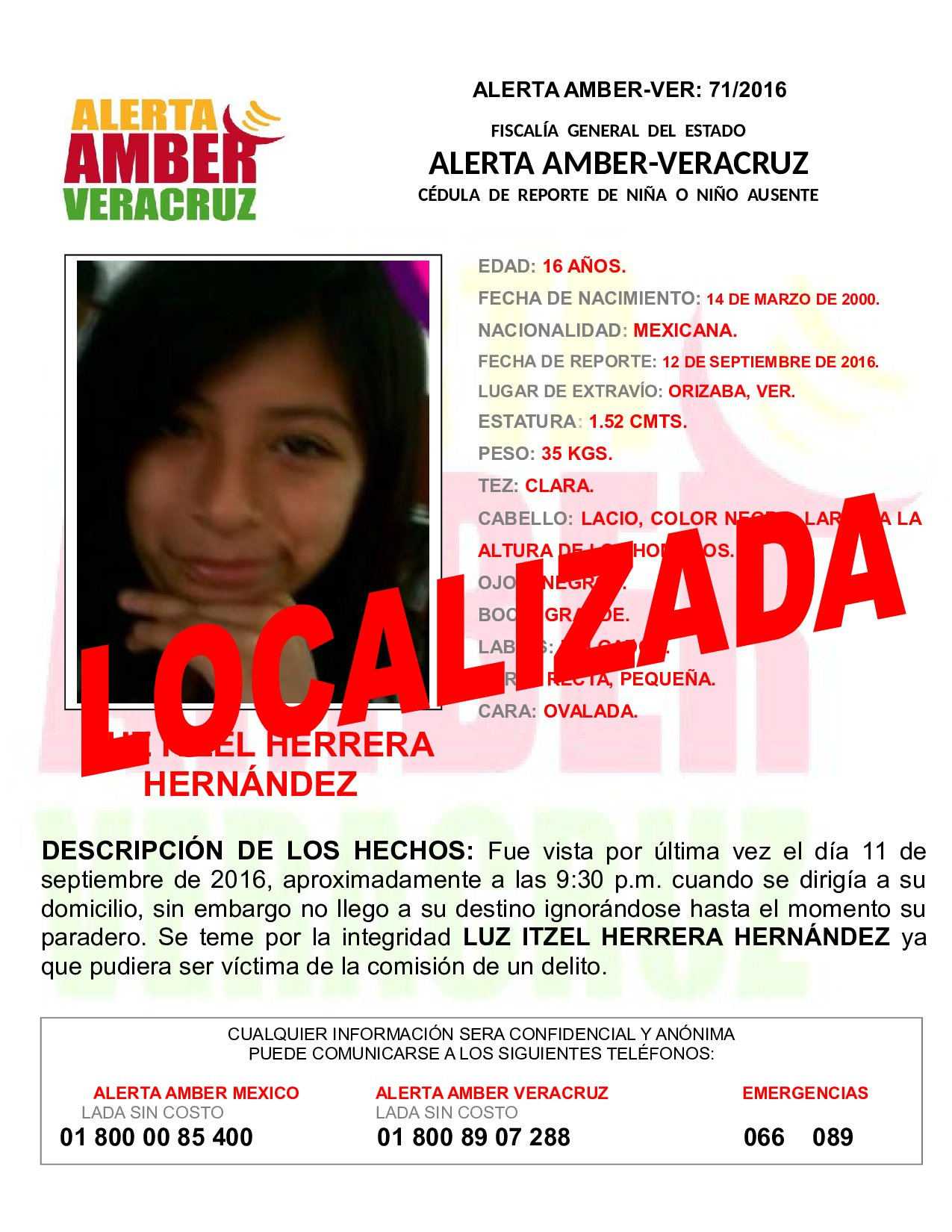 Localiza FGE a 3 adolescentes desaparecidas; desactiva 2 alertas Amber