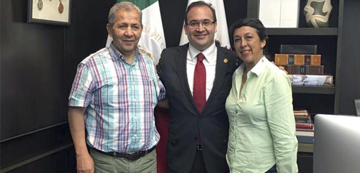 Dialoga Javier Duarte con dirigentes de Antorcha Campesina
