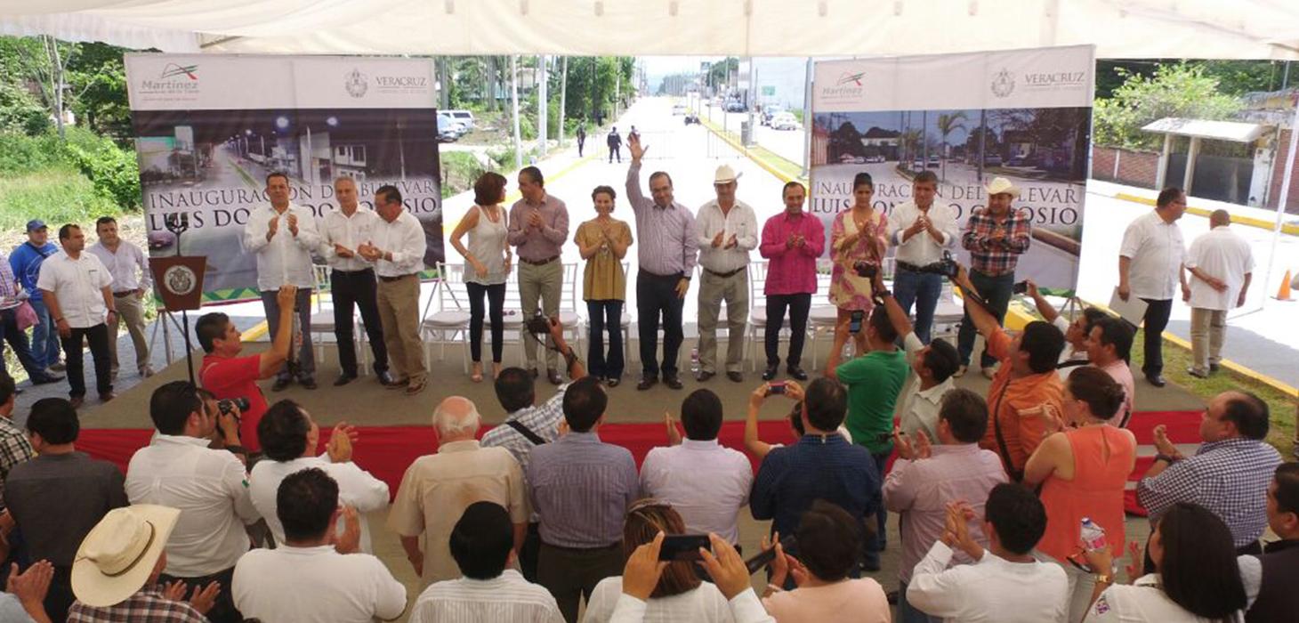 Inaugura Gobernador Javier Duarte boulevard Luis Donaldo Colosio en Martínez de la Torre