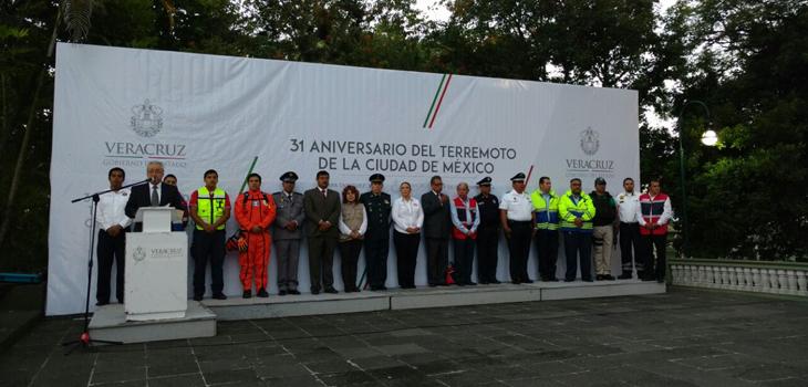 Conmemora PC 31 años de sismos de 1985 y Día Nacional de la Protección Civil