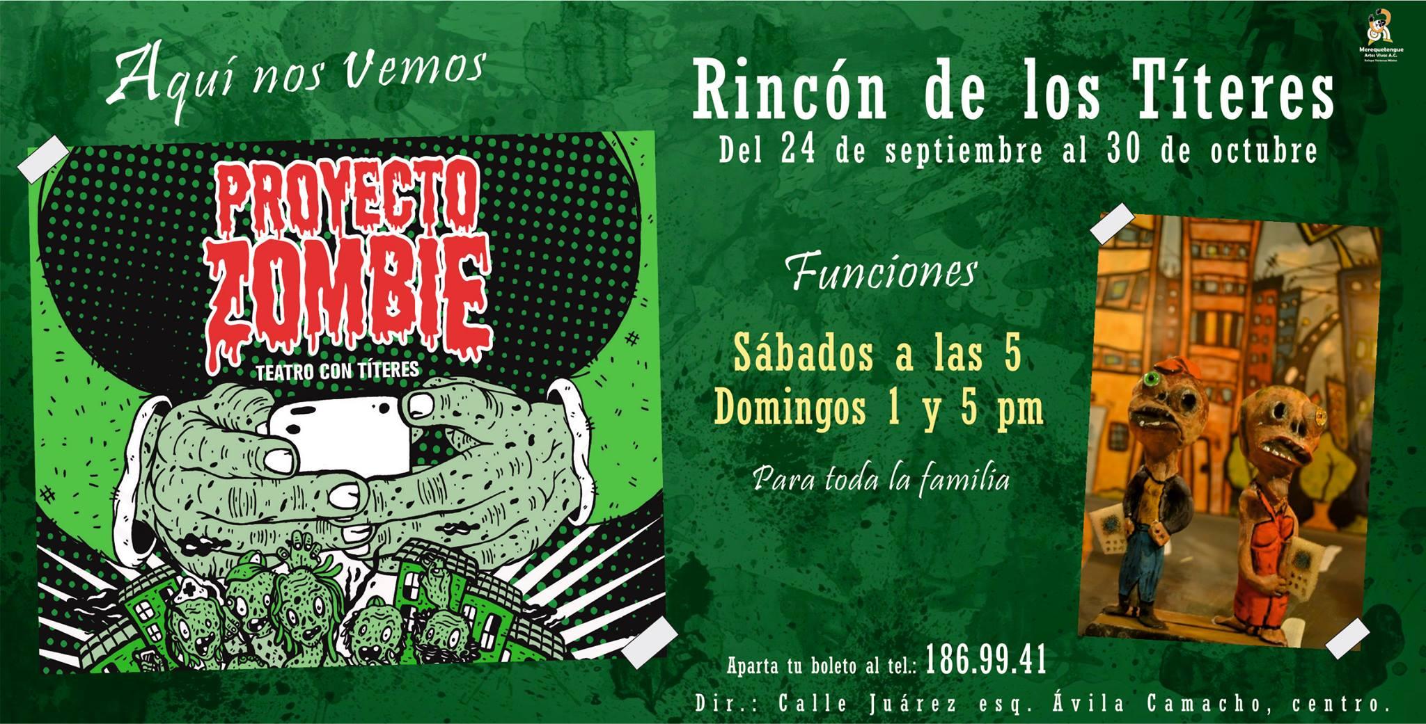 """""""Proyecto Zombie"""", obra para chicos y grandes en El rincón de los títeres"""