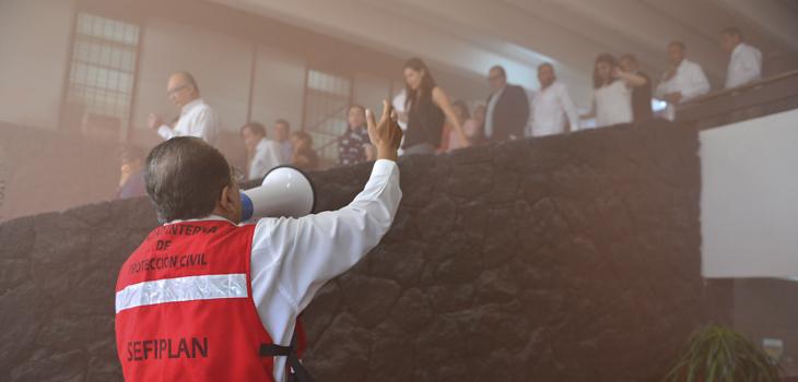 Participa Veracruz en Macrosimulacro convocado por SINAPROC