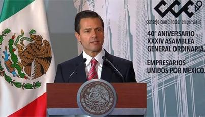 México promoverá intereses de sector productivo en negociación del TLCAN: Peña Nieto