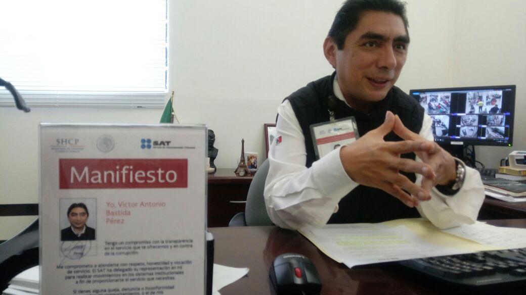 SAT del sur de Veracruz invita a los contribuyentes a cumplir con la Declaración Anual
