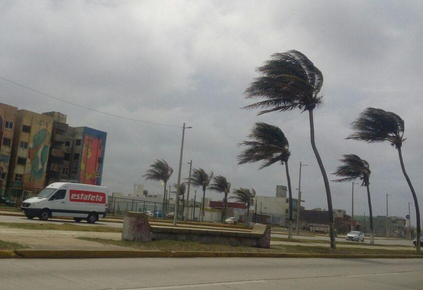 Prevén vientos de hasta 75 km/h en Veracruz por evento de Norte