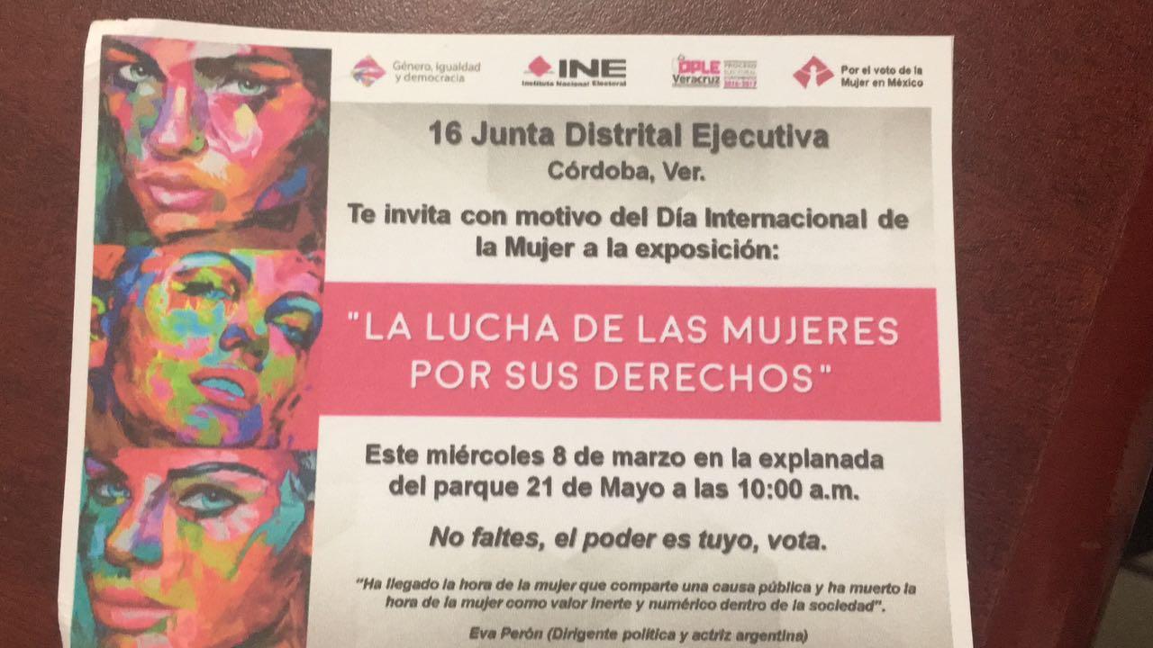 INE Córdoba realizará la exposición «La Lucha de las Mujeres por sus Derechos»