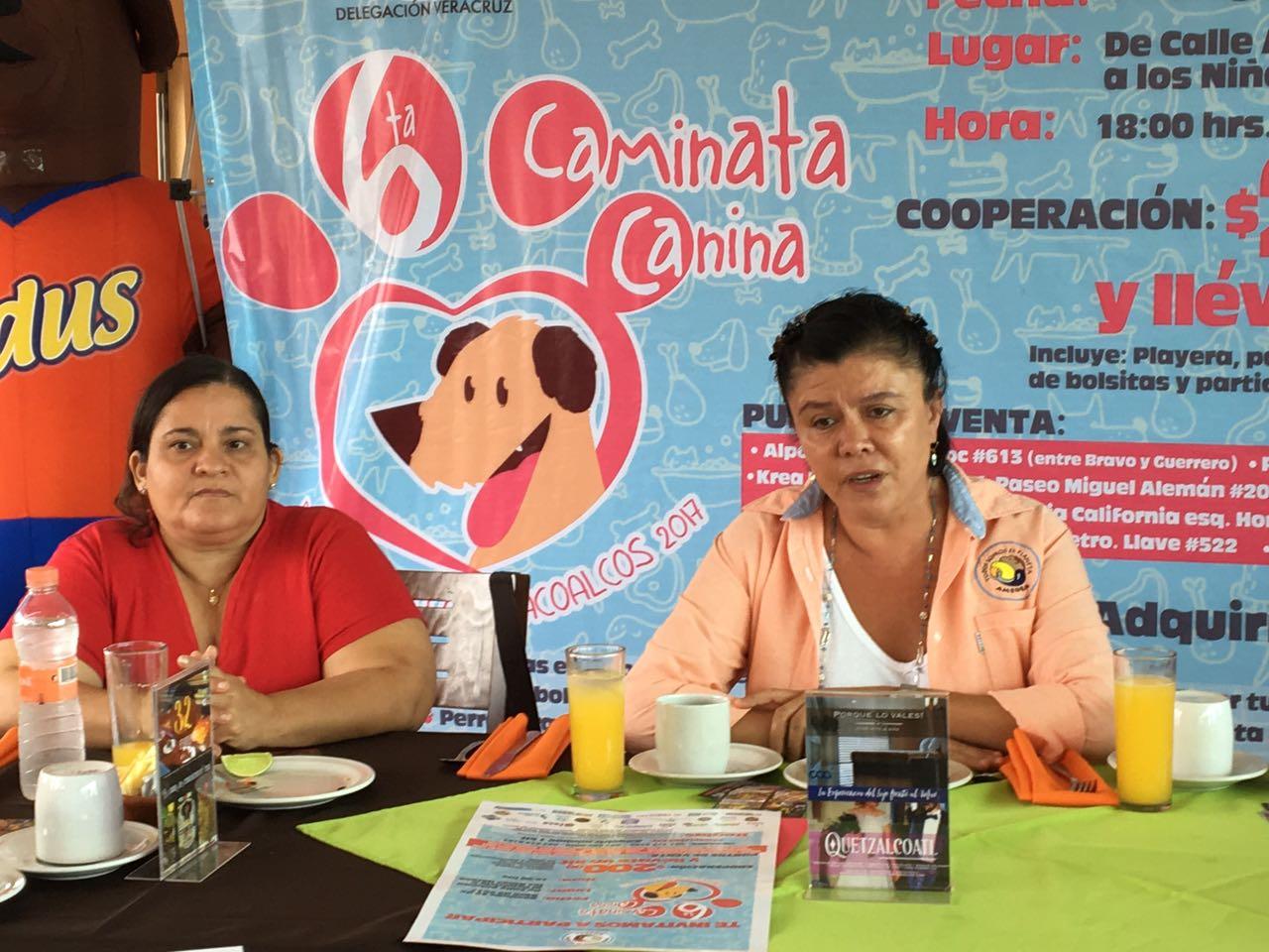 Invitan a Sexta caminata canina en Coatzacoalcos