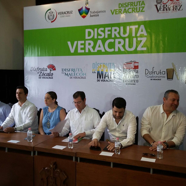 """Lanzan campaña """"Disfruta Veracruz"""" para promocionar atractivos de esta ciudad y puerto"""