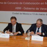 Firmó el gobernador Yunes convenio con Asociación de Bancos de México para seguridad de usuarios