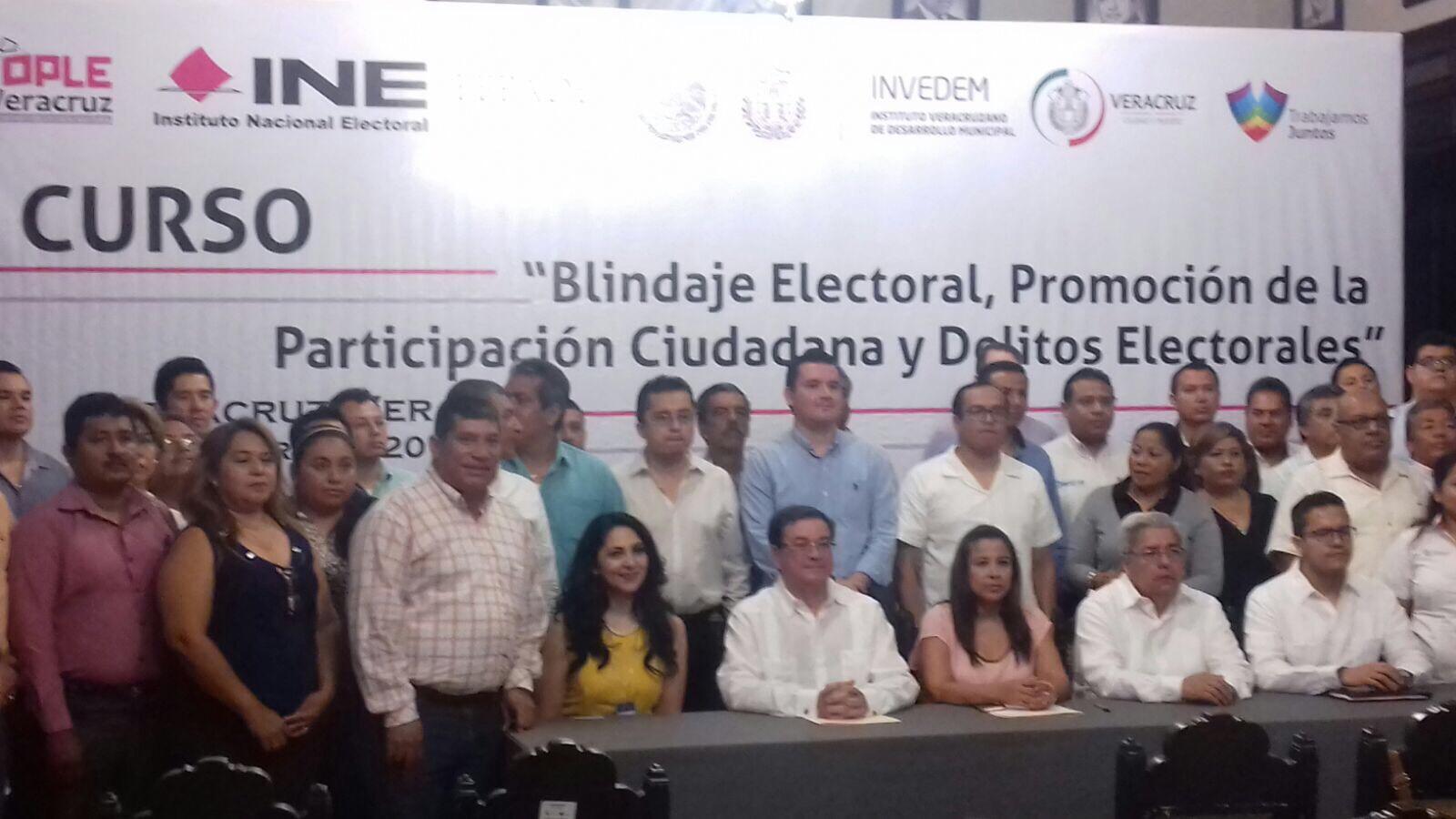 Invedem organiza curso de blindaje electoral  para servidores públicos en Veracruz