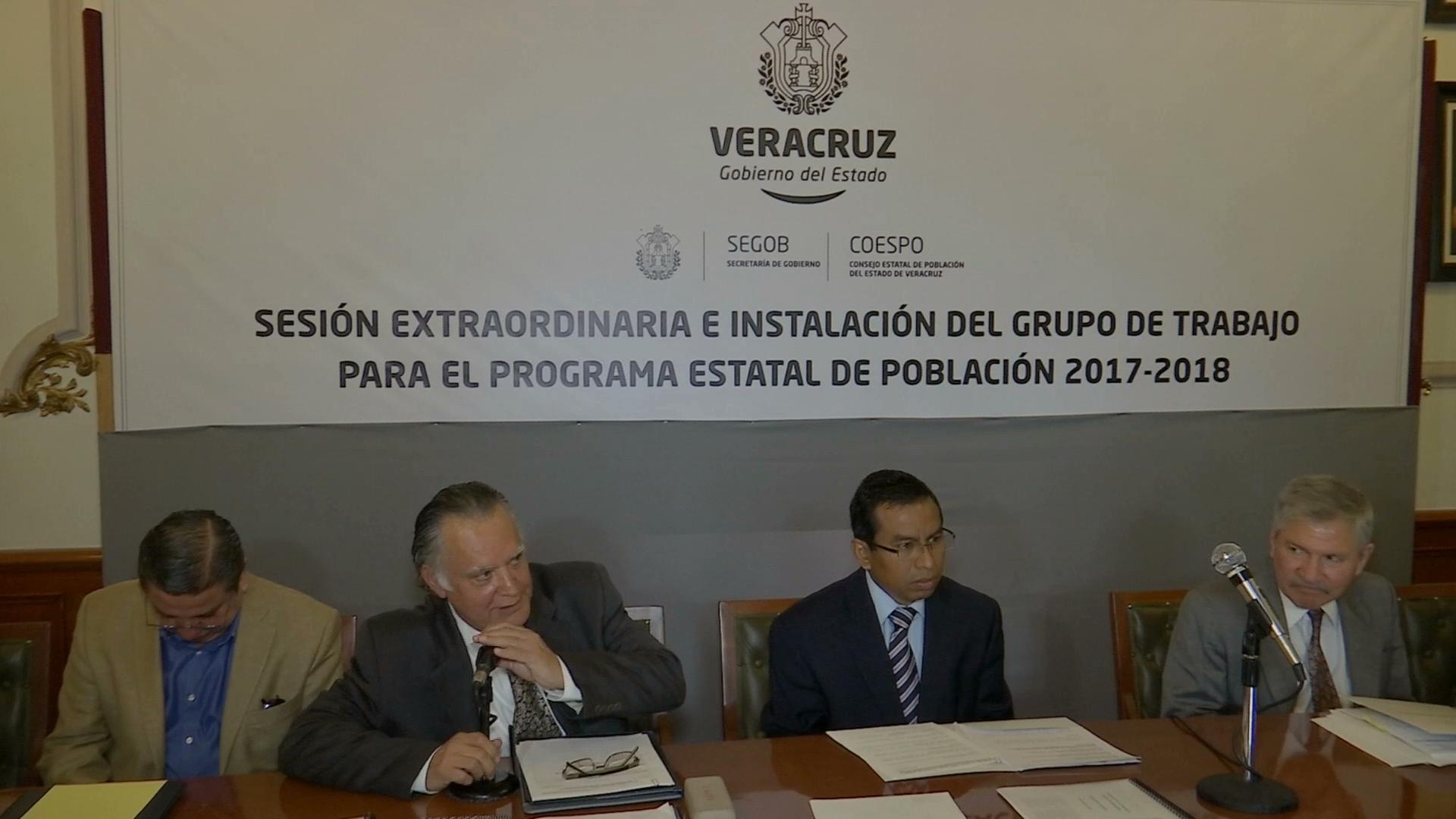 Instalan grupo de trabajo para elaborar el Programa Estatal de Población 2017-2018