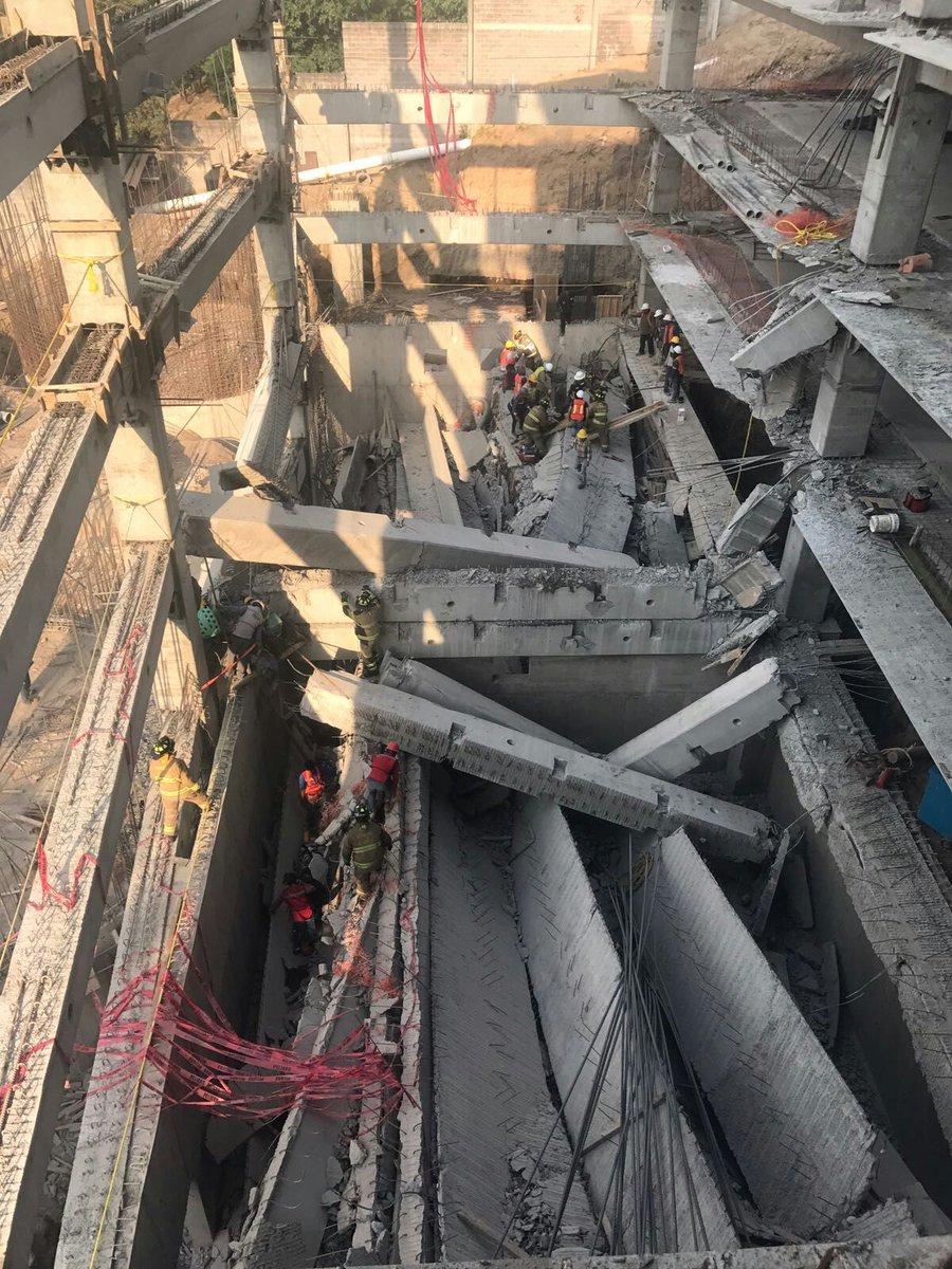 Seis muertos por derrumbe en construcción de delegación Álvaro Obregón