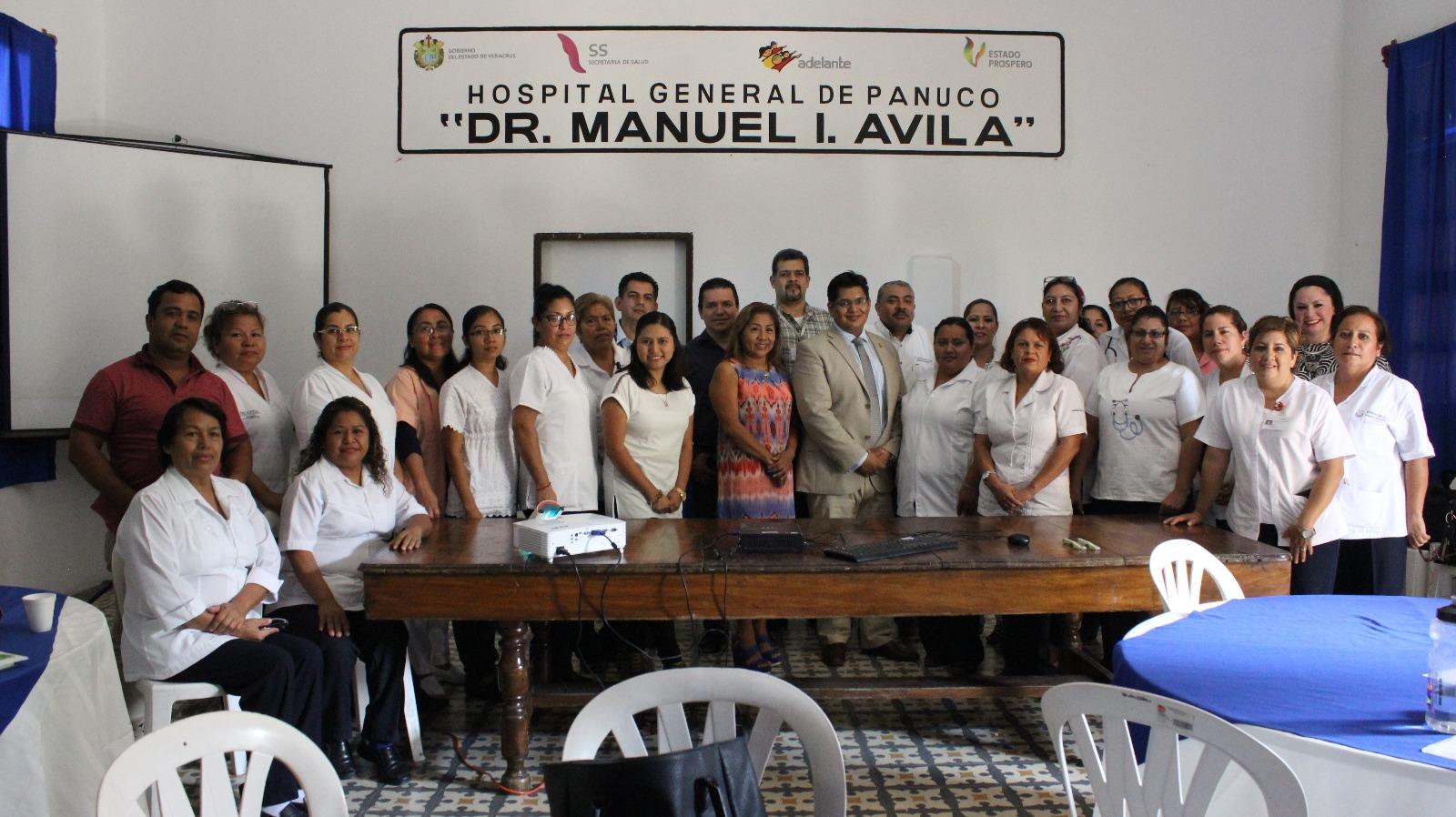 En Pánuco, personal de la Jurisdicción Sanitaria Uno se capacita en planificación familiar