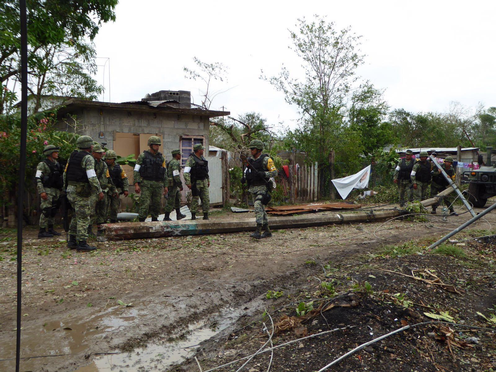 Por tormenta, aplican Plan DN-III en Tuxpan