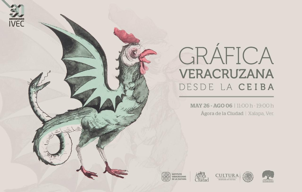 Ágora de la Ciudad exhibe Gráfica Veracruzana, una colectiva de La Ceiba Gráfica