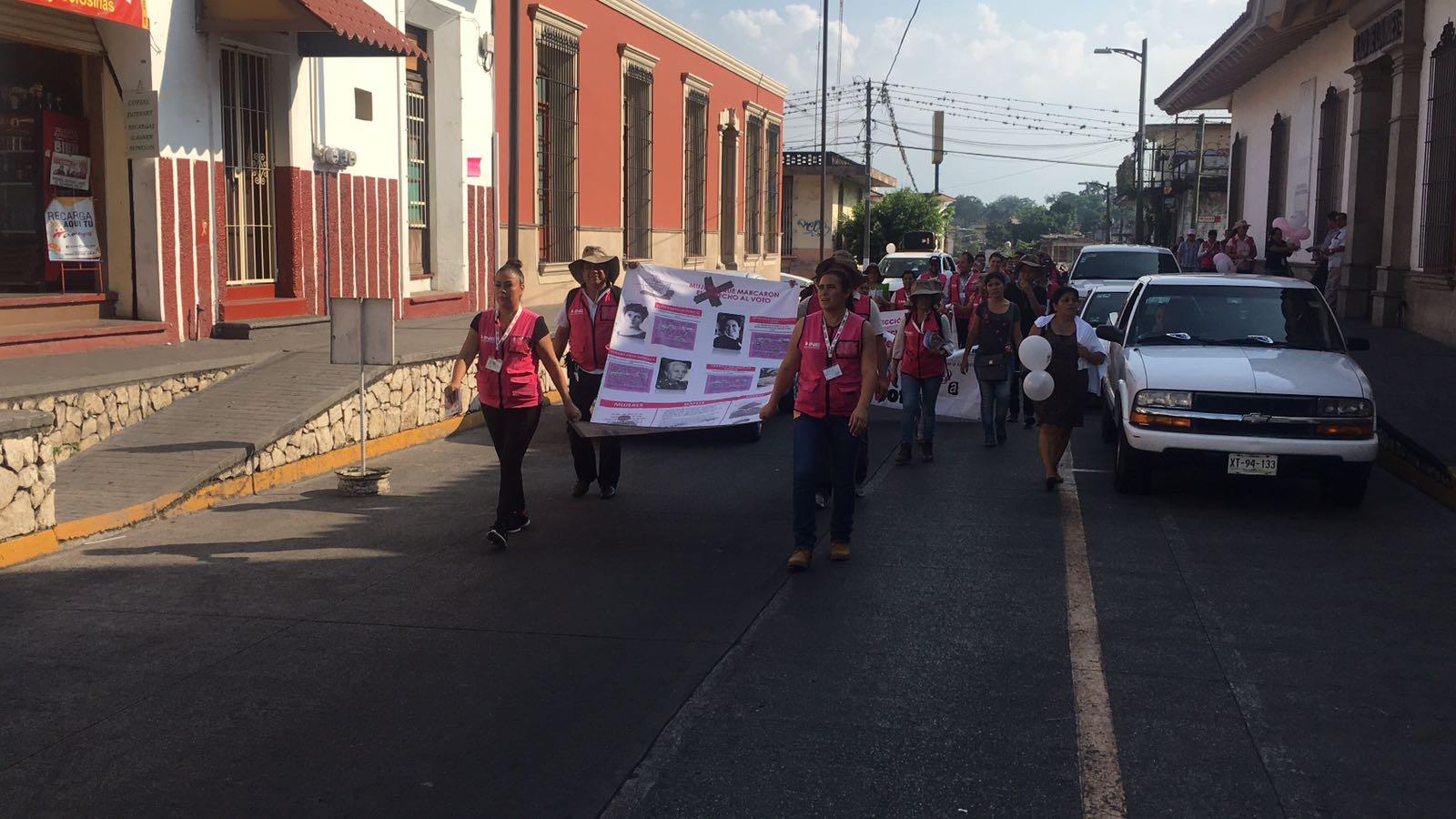 Marchan INE y el OPLE para promover el voto en Córdoba