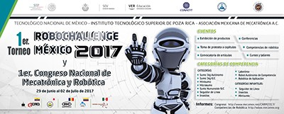 Tecnológico de Poza Rica, sede del Torneo Robochallenge México 2017