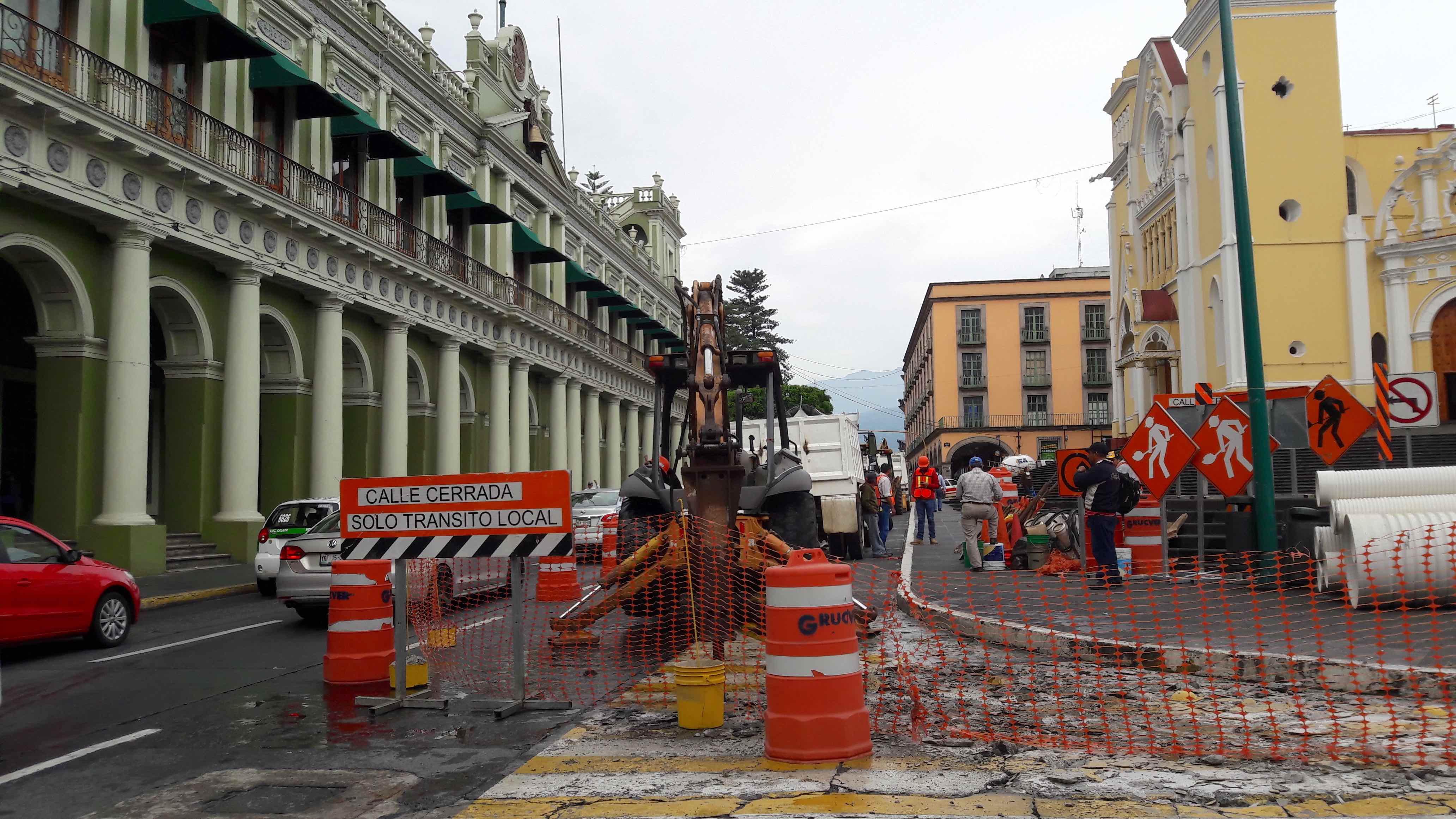 Inician trabajos de rehabilitación de la avenida Enríquez de Xalapa