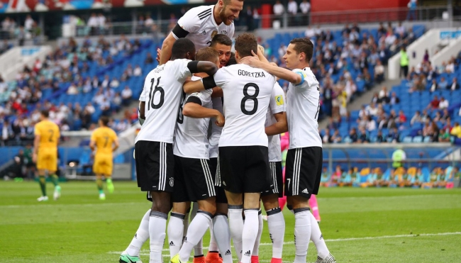 La joven Alemania sufre para vencer a Australia en debut en Copa Confederaciones