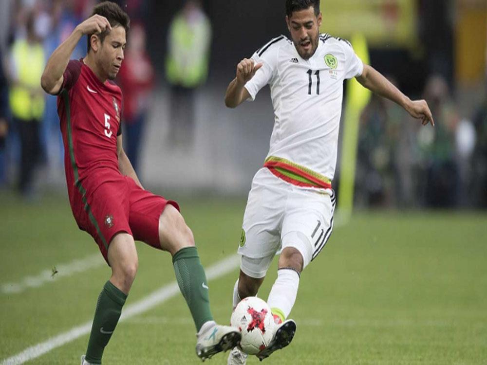 México viene de atrás y rescata empate a dos goles con Portugal en Copa Confederaciones