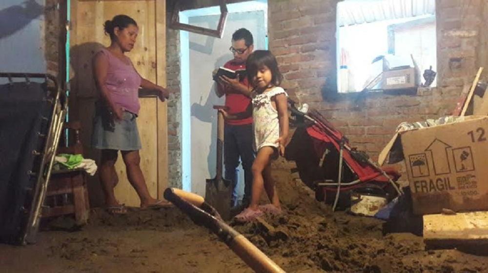 Deslave en la colonia Pocitos y Rivera de Veracruz