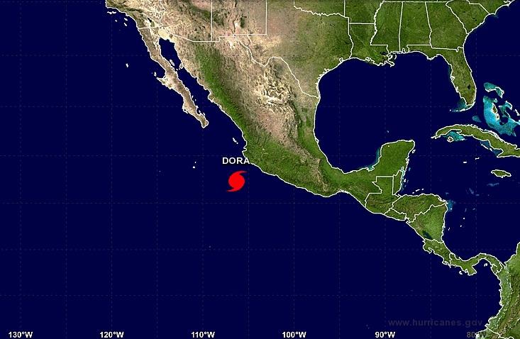 Dora ya es huracán categoría 1; mantienen alerta en costas de Jalisco y Colima